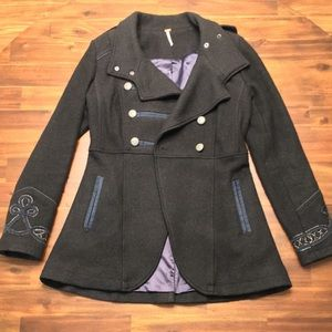 Free People Military Wool Coat